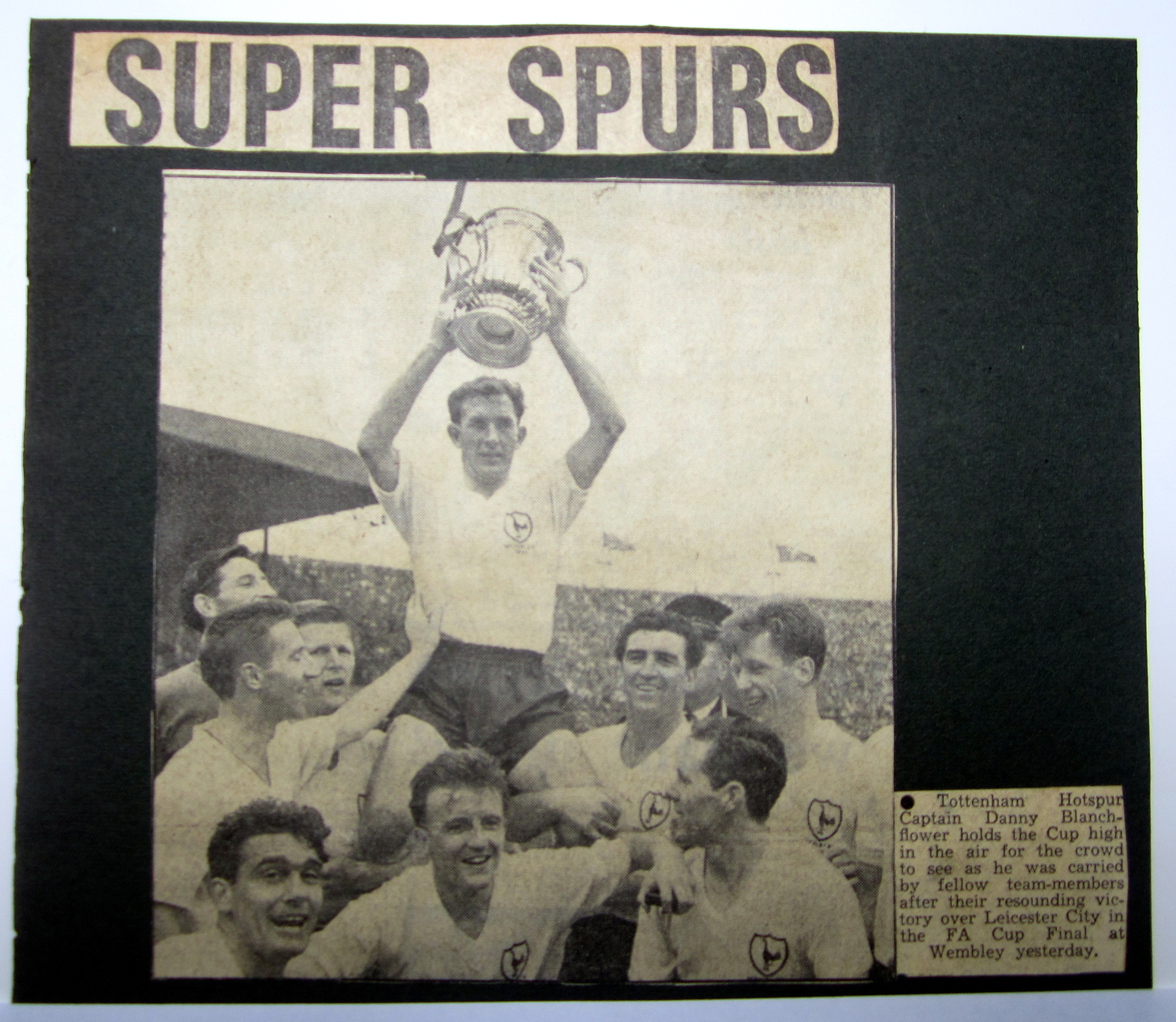 Tottenham Win the 1961 FA Cup Final To plete the Double