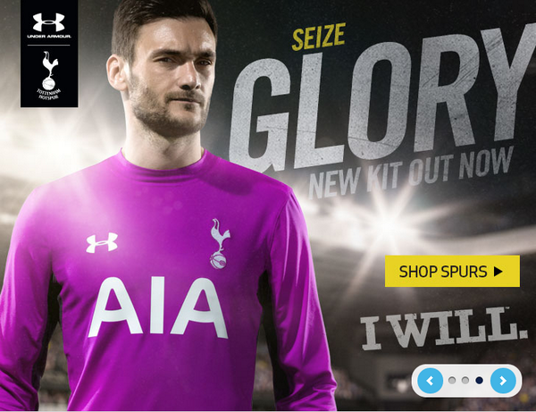 441e6b6f1 Goalkeeper s kit  UnderArmourUK The home and away kits for the 2014-15  season are now available from the Tottenham club shop and at the Spurs on-line  shop.